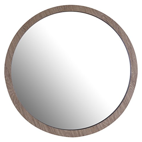 ArtMaison.ca 24 D Circle, Decorative Wood Mirror D, Medium, Brown
