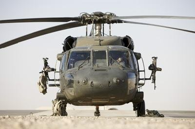 Wallmonkeys Front View of a Uh-60l Black Hawk Helicopter Peel and Stick Wall Decals WM51767 (30 in W x 20 in (Uh 60l Blackhawk)