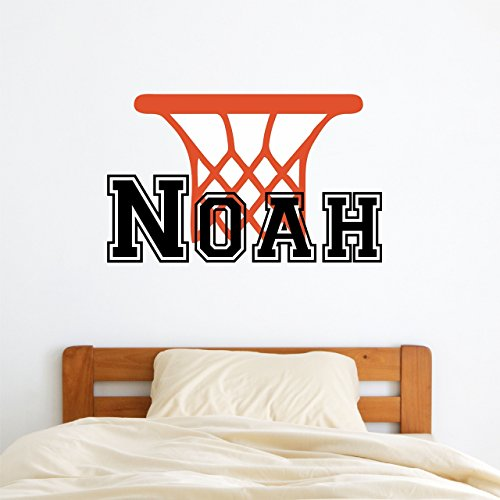 Boys Basketball Wall Decal Personalized Name – Wall Sticker