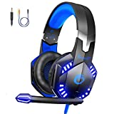 VersionTECH. [Updated] G2000 Gaming Headset for PS4 & PC & New Xbox One Controller, Nintendo Switch -Blue