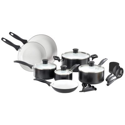 T-Fal C708SG64 Wearever Healthy Cook Ceramic 16 Piece