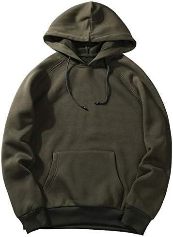 YDMZMS Marque Taille Mode Coloré À Capuche Hommes Épaissir Vêtements Hiver Sweat Hommes Porter Un Homme Solide Sweat À Capuche XL Type 2 armée Vert