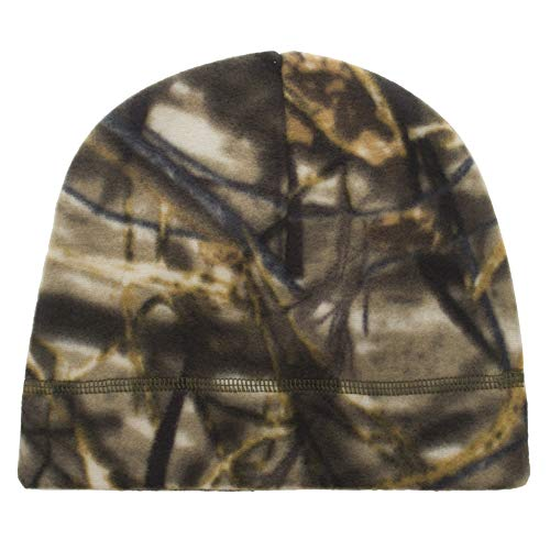 Opromo Men's Fleece Beanie Hat Soft Warm Winter Windproof Under Helmet Skull Cap Camouflage