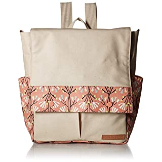 Petunia Pickle Bottom Coated Canvas Pathway Pack Diaper Bag, Blissful Brisbane
