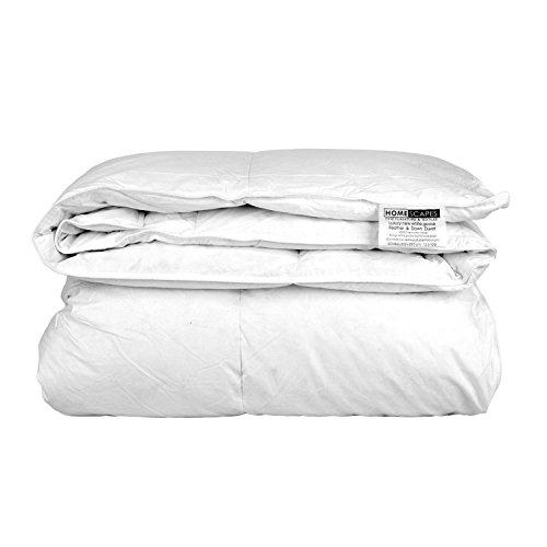 homescapes couette duvet d 39 oie 650gm 225 x 220 cm int rieur maison. Black Bedroom Furniture Sets. Home Design Ideas