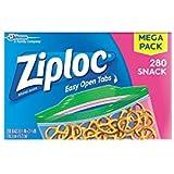 Ziploc Snack Bags, 280 Count - Pack of 2