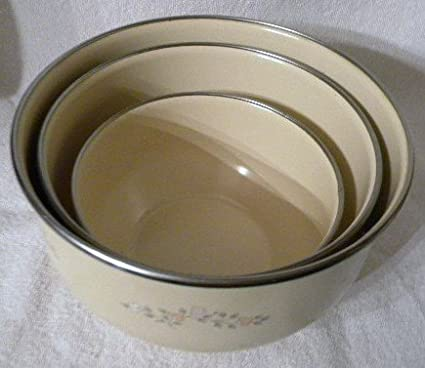 Amazon.com: Vintage Pfaltzgraff Remembrance Nested Metal Mixing Bowl ...