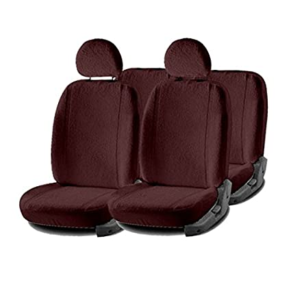 Hi Art Sweat Proof Towel Car Seat Covers For Tata Nexon Maroon
