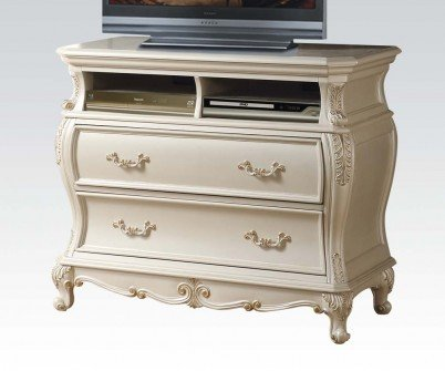 ACME Furniture Chantelle 23547 TV Console, Pearl White