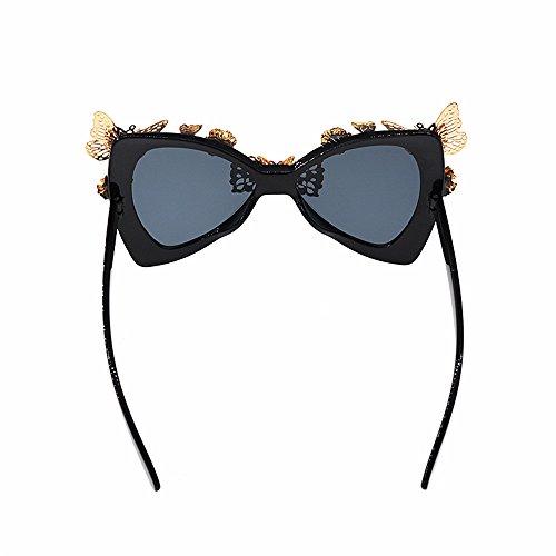 Show Baroque Cat Sunglasses Sol Beach Butterfly de Ultra Bowknot de Style Sol Gafas Wenjack Sol Flowers Ligero Mujeres de Gafas Metal de Lady'S Gafas Las Eyes Fashion YpxYBwqf7