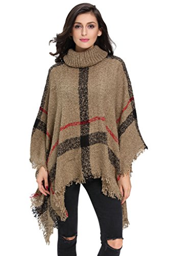 HOTAPEI Oversized Turtleneck Pullover Knitted