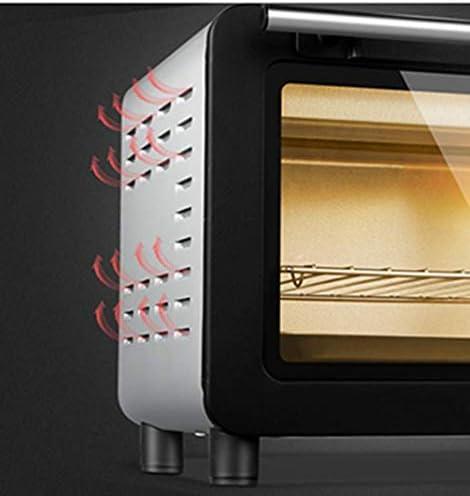 LITING Mini-oven 15L elektrische oven met temperatuurinstelling minuten timer, 1200 W dubbel beglazen deur broodrooster, gemakkelijk te reinigen