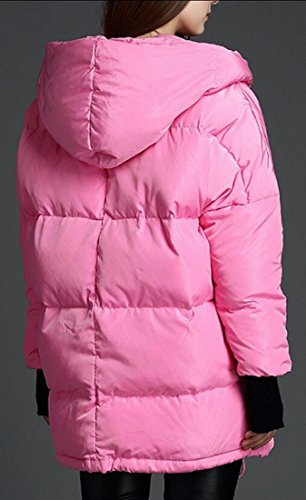 Down Winter Thickened Pink Hooded Women's M Jacket amp;W Puffer amp;S Ovqa17