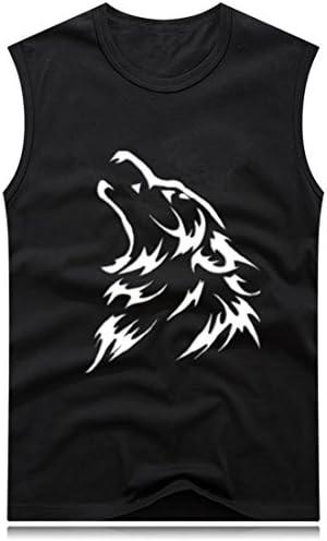 crazy(クレイジー) ノースリーブ メンズ トップス タンクトップ 無袖 スポーツウェア トレーニングウェア 夏 大きいサイズ ゆったり 4COLORS (ブラック, L)
