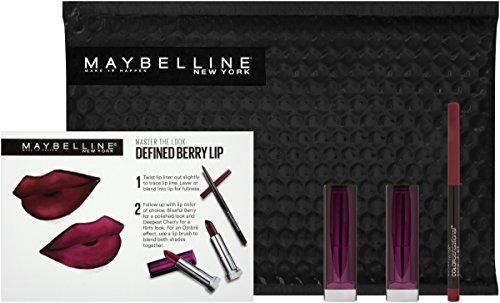 Maybelline New York NY Minute Makeup Kit Defined Berry Lip Makeup Kit, Berry Lipstick Lip Liner Kit
