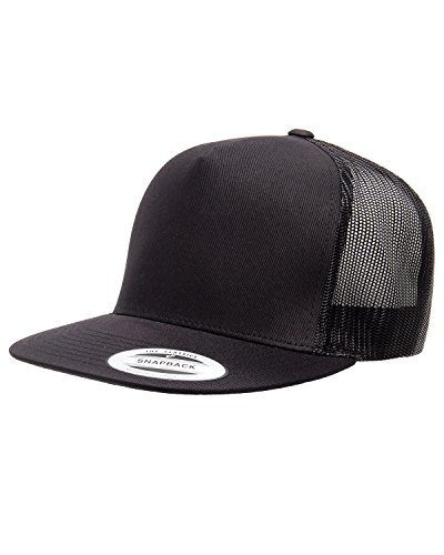 Yupoong Five-Panel Classic Trucker Cap - One Size - Black