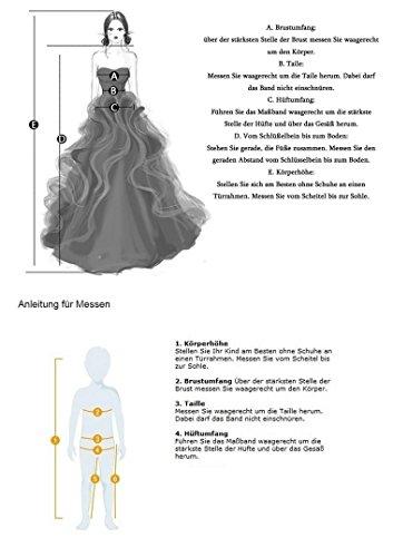 Abendkleid Tüll Partykleid Linie Violett Mutter Tochter Geblümt Kleid Hochzeit Kristall Ballkeid Brautjungfernkleid Fest A KekeHouse® 1HZqw7U