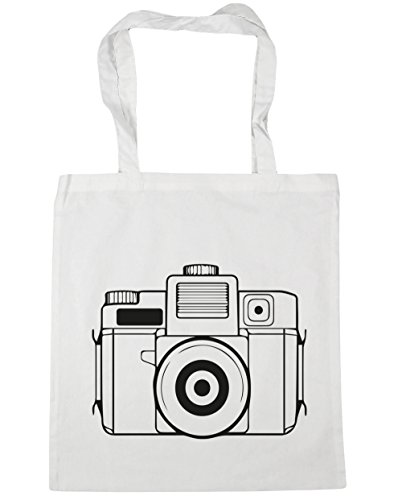 Tote Gym 10 Bag 42cm Beach Shopping illustrated HippoWarehouse White litres x38cm camera HnxF47U