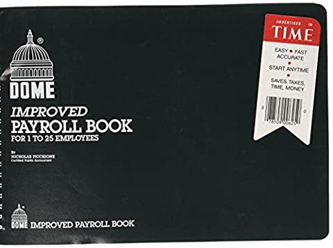 Dome Improved Payroll Book For 1 to 25 Emplyees (Form Dome)