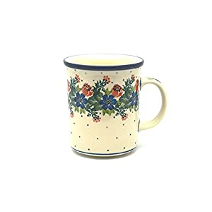 Polish Pottery Mug – Big Straight Sided – Garden Party