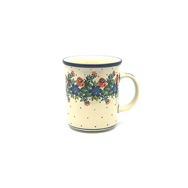 Polish Pottery Mug – Big Straight Sided – Garden Party