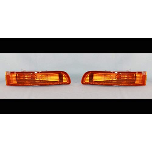 Fits 1995 Nissan Maxima Pair Driver and Passenger Side Turn Signal Light Lens and Housing Only NI2530106 NI2531106 - Replaces 26139-40U10 26134-40U00 ;