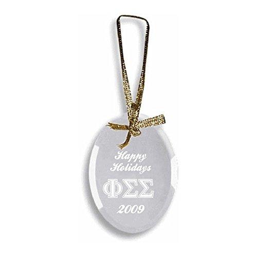 (Phi Sigma Sigma Glass Ornament)