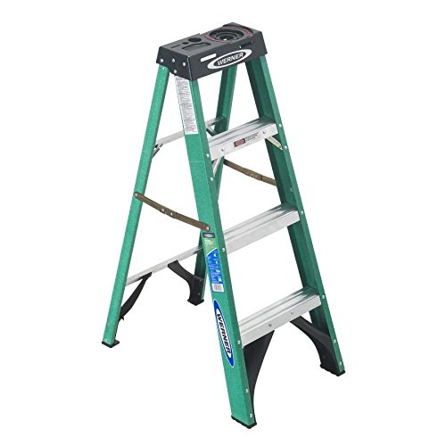 4 ft. Fiberglass Step Ladder with 225 lb. Load Capacity Type II Duty Rating