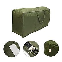 Patio Furniture Cushion Storage Bag, Waterproof Lightweight Outdoor Garden Cushion Pad Carry Case