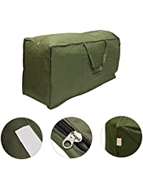 outdoor patio seat cushion cover storage bag water resistant rectangular protective zippered garden storage bag with - Replacement Outdoor Cushions