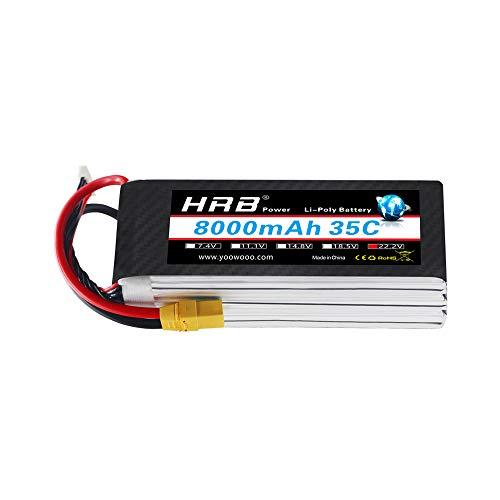 Bateria Lipo 8000mAh 22.2V 35C 6S para drone DJI S800 s1000