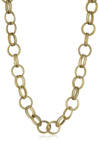 Betsey Johnson Gold-Tone Textured Chain-Link Long Necklace, 36