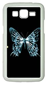 Butterfly fringe PC Case Cover for Samsung Grand 2 and Samsung Grand 7106 White by icecream design