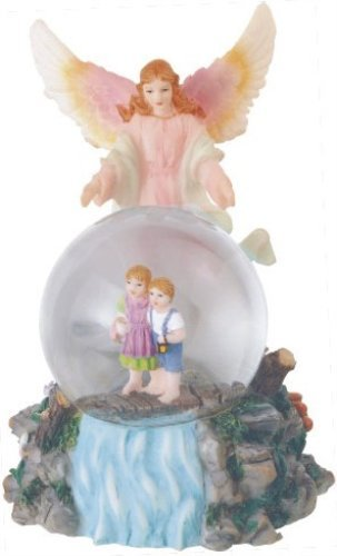 Snow Globe Guardian Angel Collection Figurine Desk Decoration ()