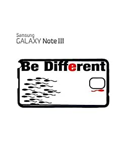 Be Different Sperm Mobile Cell Phone Case Samsung Note 3 White