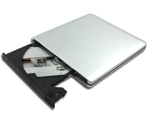New Panasonic UJ-252 UJ252 16mm Super Slim Ultrathin 4X 3D Blu-ray Burner BD-RE Dual Layer Writer Multi 8X DVD-R Recorder Tray Loading Portable External USB 3.0 Optical Drive Silver Aluminum
