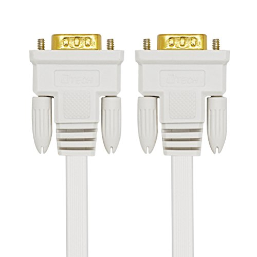 DTECH 50 Feet VGA Cable Male to Male Slim Flexible Wire for Computer Monitor Projector (White) by DTECH (Image #4)