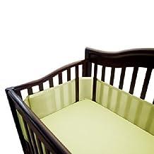 BreathableBaby Breathable Mesh Crib Liner, Soft Lime