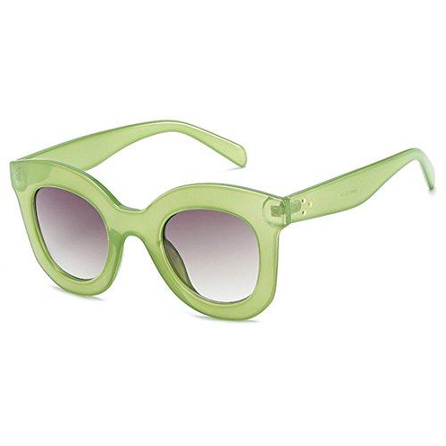 sol ojo de vintage Gafas Marco sol de Gafas Inlefen Gris gato Mujeres Gafas retro Verde de de de gran tamaño estilo Mujeres de Gafas qpREfw6RY
