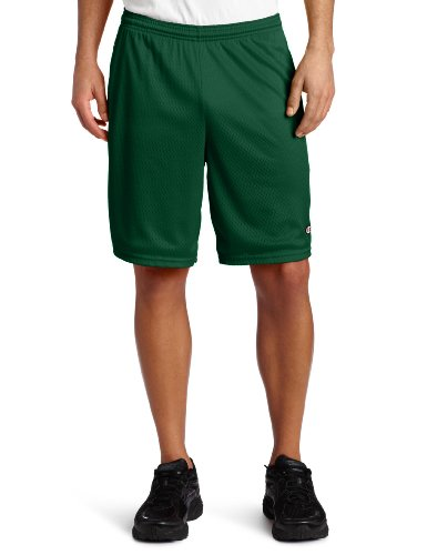 Champion 3.7 oz. Long Mesh Shorts with Pockets M ATHLETIC DARK GREEN