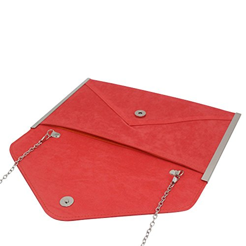 Party Handbag Wedding Chain Pink Envelope Coral Women Cocktail Wiwsi Evening Hot Clutch New Bag 41Sg8wwq