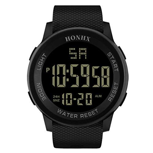 (TIFENNY Luxury Casual Electronic Watch Men Analog Digital Military Sport LED Waterproof Wrist Watch Pocket Watch )