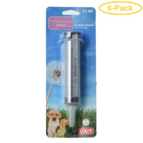 Lixit Hand Feeding Syringe for Baby Animals 35 ml Hand Feeding Syringe - Pack of 6 by Lixit
