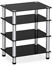 FITUEYES 4-Tier Media Component Tv Stand Audio Cabinet