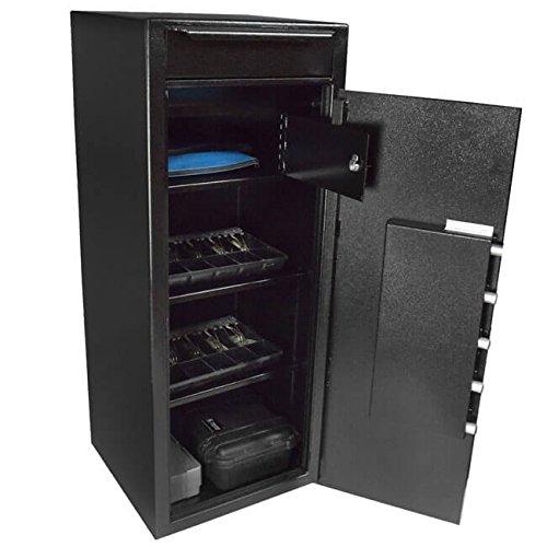 Stealth Heavy Duty Drop Safe Depository Vault BWB5020FL Cash Storage Internal Steel Locker, 2 Adjustable Shelves, Made in USA