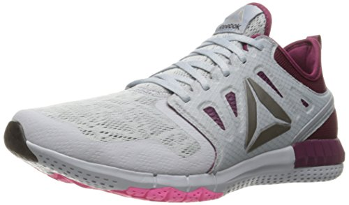 Reebok Women's Zprint 3D Walking Shoe, Cloud Grey/Rebel Berry/Poison Pink/Pewter, 8 M US