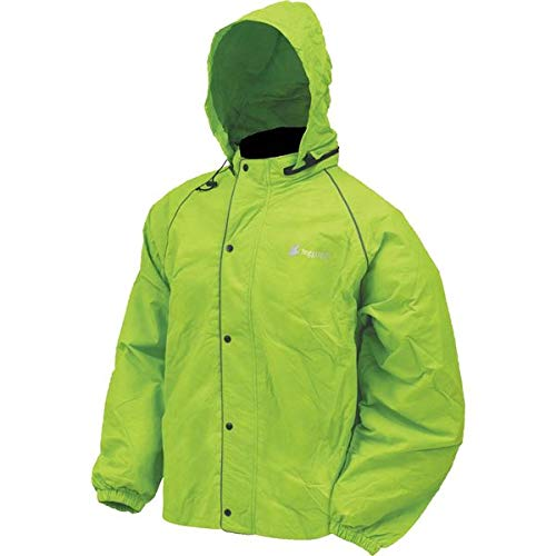 Frogg Toggs Unisex-Adult High Visibility Road Toad Rain Jacket (Green, Large)
