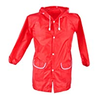 Cute Strawberry Baby Funny Raincoat- Red