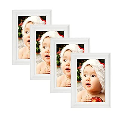 Amazon.com - Lambert Frame Classic Wooden Picture Frames 4x6 (4 pc ...