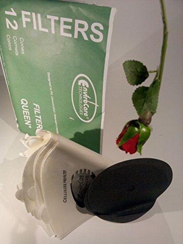 Cone, Filter Queen 12pk W/2 Disc Filters Paper Bag ()